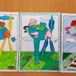 De kleurwedstrijd in Zeewolde, een kleurplaat van Hiky Helmantel met een Vleugje wind.