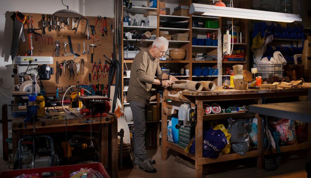 foto Rob in atelier door Marijn